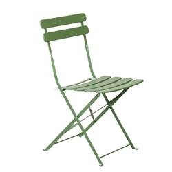 IMPERIAL Bistro chaise vert H 82 x Larg. 42 x P 46,5 cm