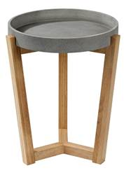 FLEXA Table d'appoint gris, naturel H 50 cm; Ø 40 cm