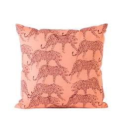 JAGUAR Coussin orange Larg. 40 x Long. 40 cm