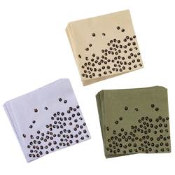 CHEETAH FL Set de 20 serviettes diverses couleurs Larg. 33 x Long. 33 cm