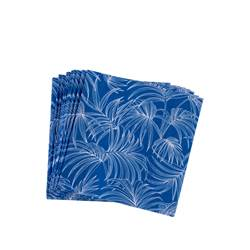 BAHAMAS BLUE Set de 20 serviettes bleu