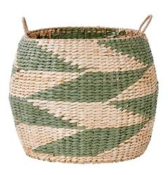 INDIAN GREEN Panier vert, naturel H 39 cm; Ø 46 cm