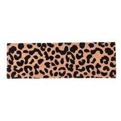 CHEETAH Paillasson noir, naturel Larg. 25 x Long. 75 cm