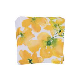 FLOWERS YELLOW Set van 20 servetten geel B 33 x L 33 cm