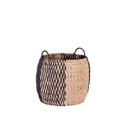 INDIAN SPICE Panier noir, naturel H 29 cm; Ø 36 cm