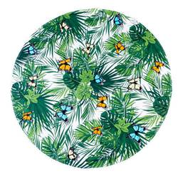 PAPILLONS Plaid estivo multicolore Ø 150 cm