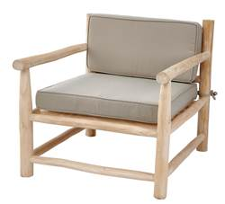 TEAK Chaise lounge naturel H 70 x Larg. 70 x P 80 cm