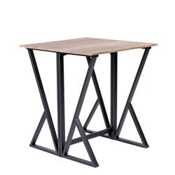 NEW FOLD Table pliable gris foncé, naturel H 88 x Larg. 80 x P 80 cm