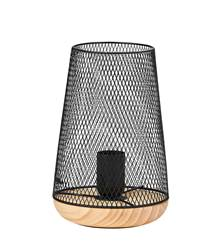 MESH Lampe de table noir H 23 cm; Ø 15 cm