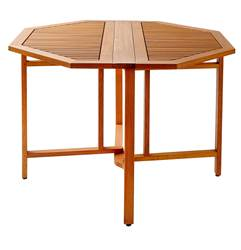 NEW OREGON Table pliante naturel H 74 cm; Ø 109 cm