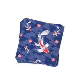 KOI Set de 20 serviettes diverses couleurs Larg. 33 x Long. 33 cm