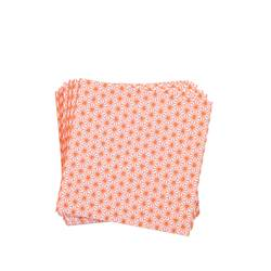 GINZA ORANGE Set de 20 serviettes diverses couleurs Larg. 33 x Long. 33 cm