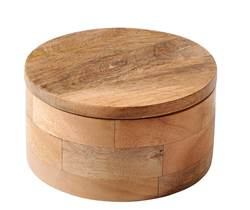 PURE LUXURY Pot de rangement naturel H 8 cm; Ø 15 cm