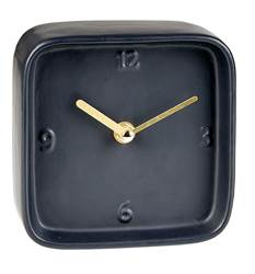 BLOCK Horloge de table noir H 13 x Larg. 13,5 x P 6,2 cm