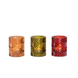 CALDA Partylight 3 couleurs rouge, orange, vert H 9,5 cm; Ø 7,8 cm