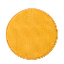 RIBBY Coussin d'assise jaune Ø 38 cm