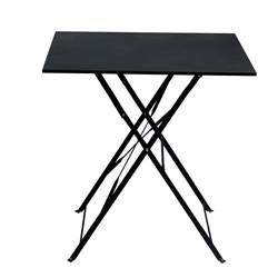 IMPERIAL Table pliante carré noir H 71 x Larg. 70 x Long. 70 cm