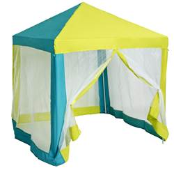 LOU Tente Party bleu, lime H 160 x Larg. 140 x P 140 cm