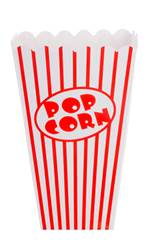 CINEMA Gobelet pop-corn blanc, rouge H 16 x Larg. 10 x P 10 cm
