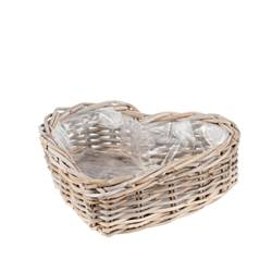 HEART Cesta natural A 15 x An. 39 x P 39 cm
