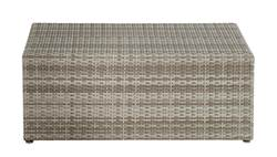 TRENTINO Table Lounge gris clair H 40 x Larg. 50 x Long. 100 cm