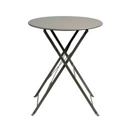 IMPERIAL Table pliante rond taupe H 71 cm; Ø 60 cm