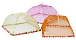 FLOWER Cloche à aliments pliable rose, orange, lime Larg. 31 x P 31 cm