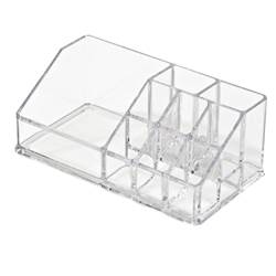 COSMETIC Make-up-Organizer Transparent H 9 x B 17,5 x T 6,5 cm