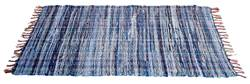 DENIM  Tapis bleu Larg. 70 x Long. 140 cm